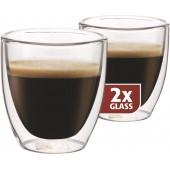 "Termo skleničky Maxxo ""Espresso"" 80ml 2ks"